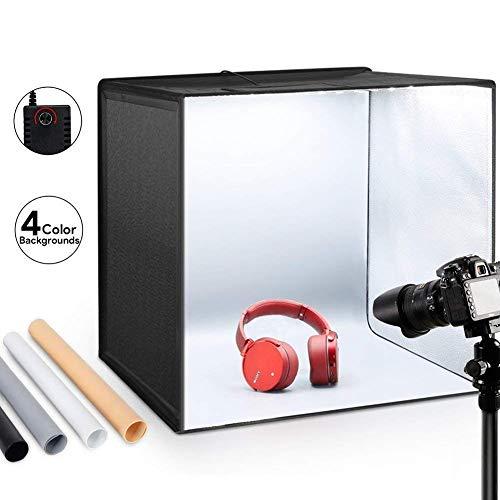 ESDDI Foto Zelte 50x50x50 cm Leuchtkasten Fotostudio Tragbare Faltbare Studiobox...