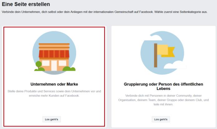 Facebook-Seite erstellen - Startup - Gründer