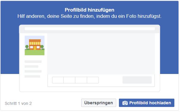 Facebook-Seite erstellen - Startup - Gründer - Profilbild hinzufügen