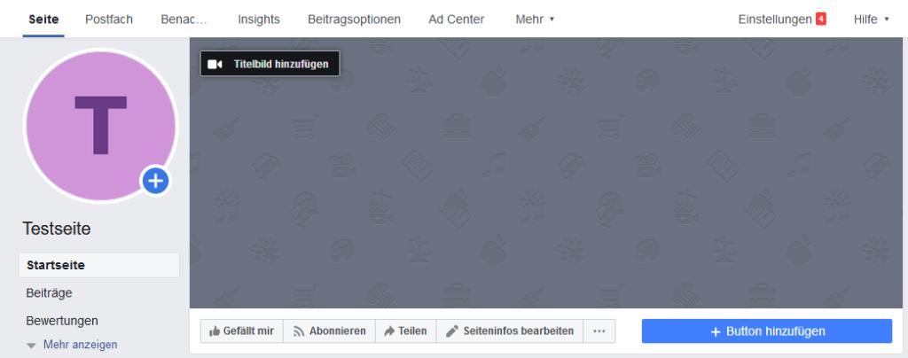 Facebook-Seite erstellen - Startup - Gründer - Seite eingerichtet