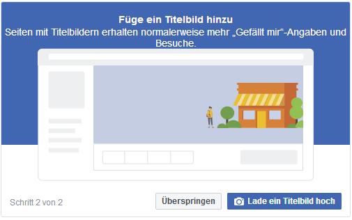 Facebook-Seite erstellen - Startup - Gründer - Titelbild hinzufügen
