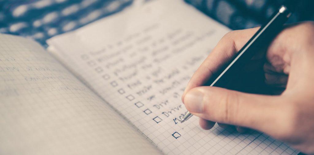 Checkliste für den Beruf die Karriere, unternehmerische Ziele - Die Business-Bucket-List
