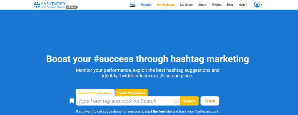 Hashtagify - Analyse von Hashtags auf Twitter