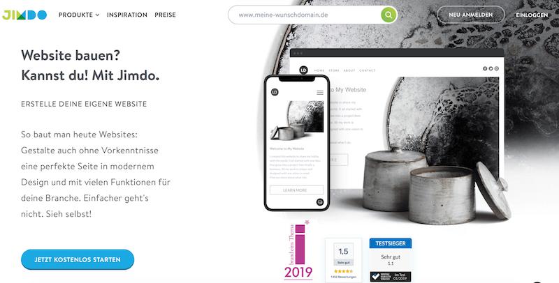 Jimdo Homepage-Baukasten für Startup-Gründer und Jungunternehmer