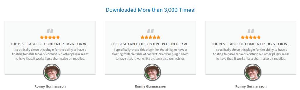 Joli Table of Contents Plugin - Fake Testimonials - Best or Worst Plugin