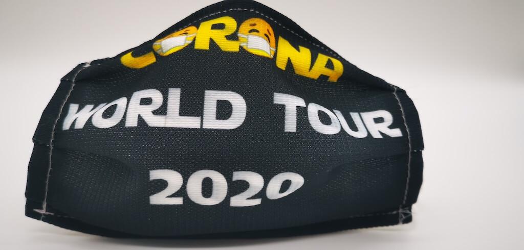 Mund-Nase-Maske - Corona-World-Tour-2020