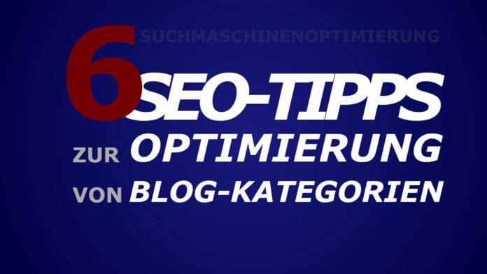 SEO-Tipps - Blog - Kategorien Suchmaschinenoptimierung