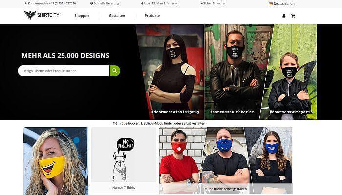 ShirtCity - Mund-Nase-Masken selbst gestalten