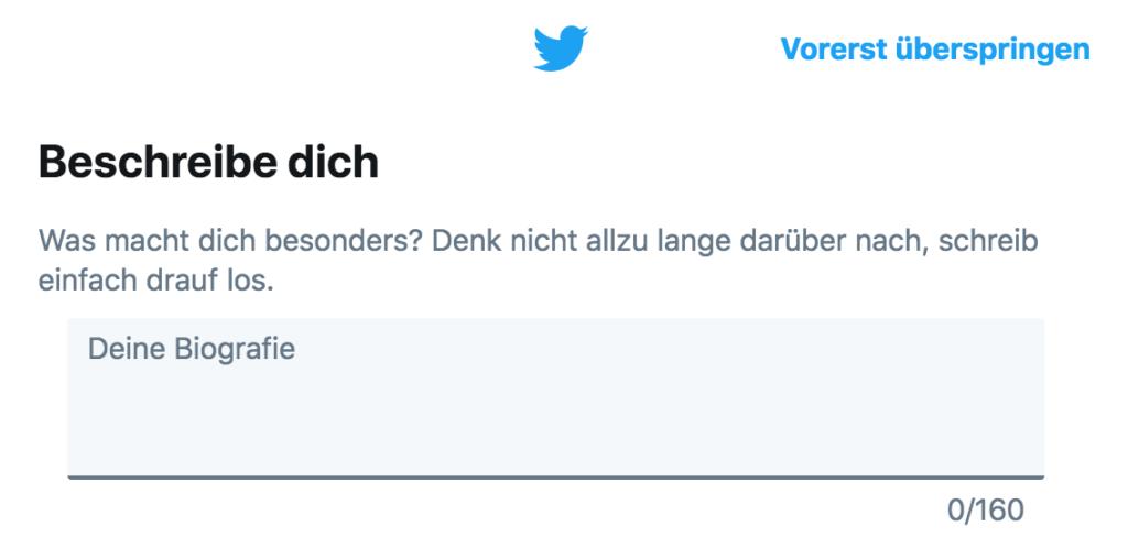 Twitter Anleitung - Tutorial - Beschreibe dich - Beschreibung Biografie einpflegen