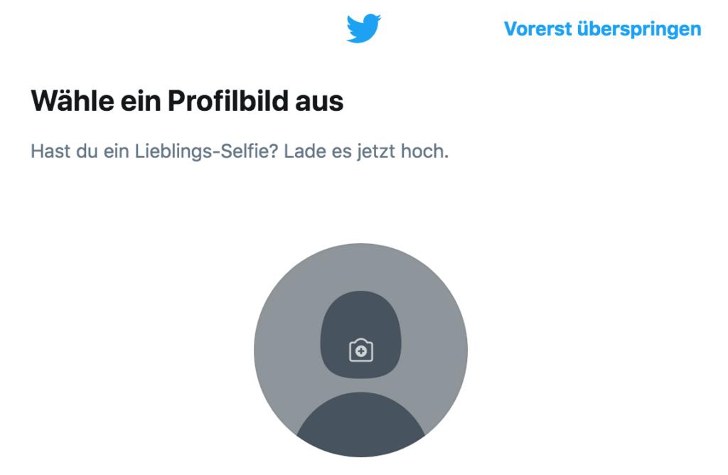 Twitter Anleitung - Tutorial - Profilbild auswählen
