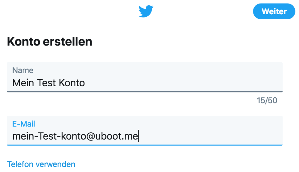 Twitter-Anleitung - Tutorial - Twitter Konto erstellen