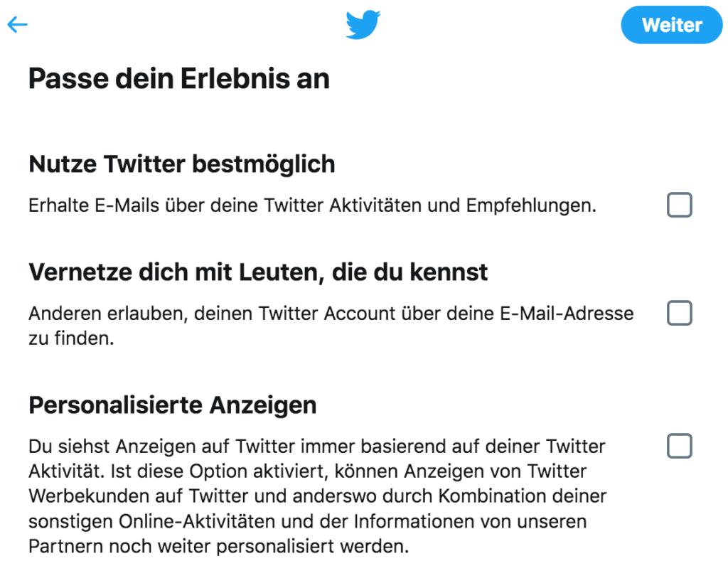 Twitter-Anleitung - Tutorial - Twitter bestmöglich nutzen - Vernetzen mit Leuten die du kennst - personalisierte Anzeigen