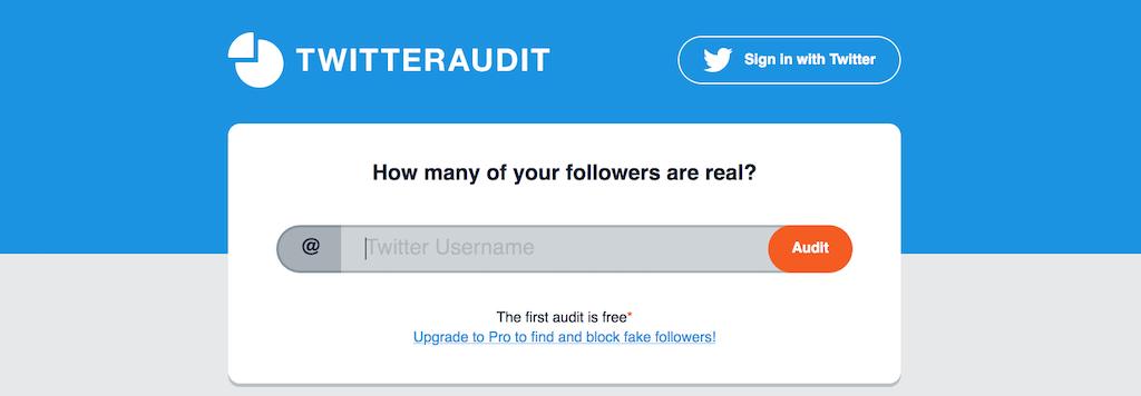 Twitteraudit - WIe viele deiner Twitter-Follower sind echt - wie viele Bots