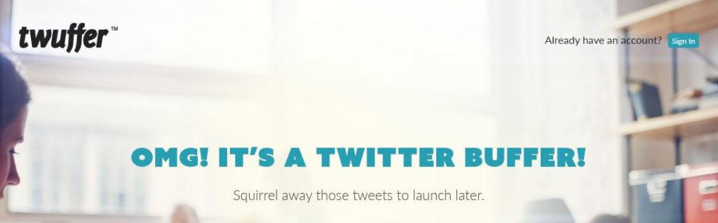 Twuffer - Schedule Tweets - zeitgesteuert Tweets senden